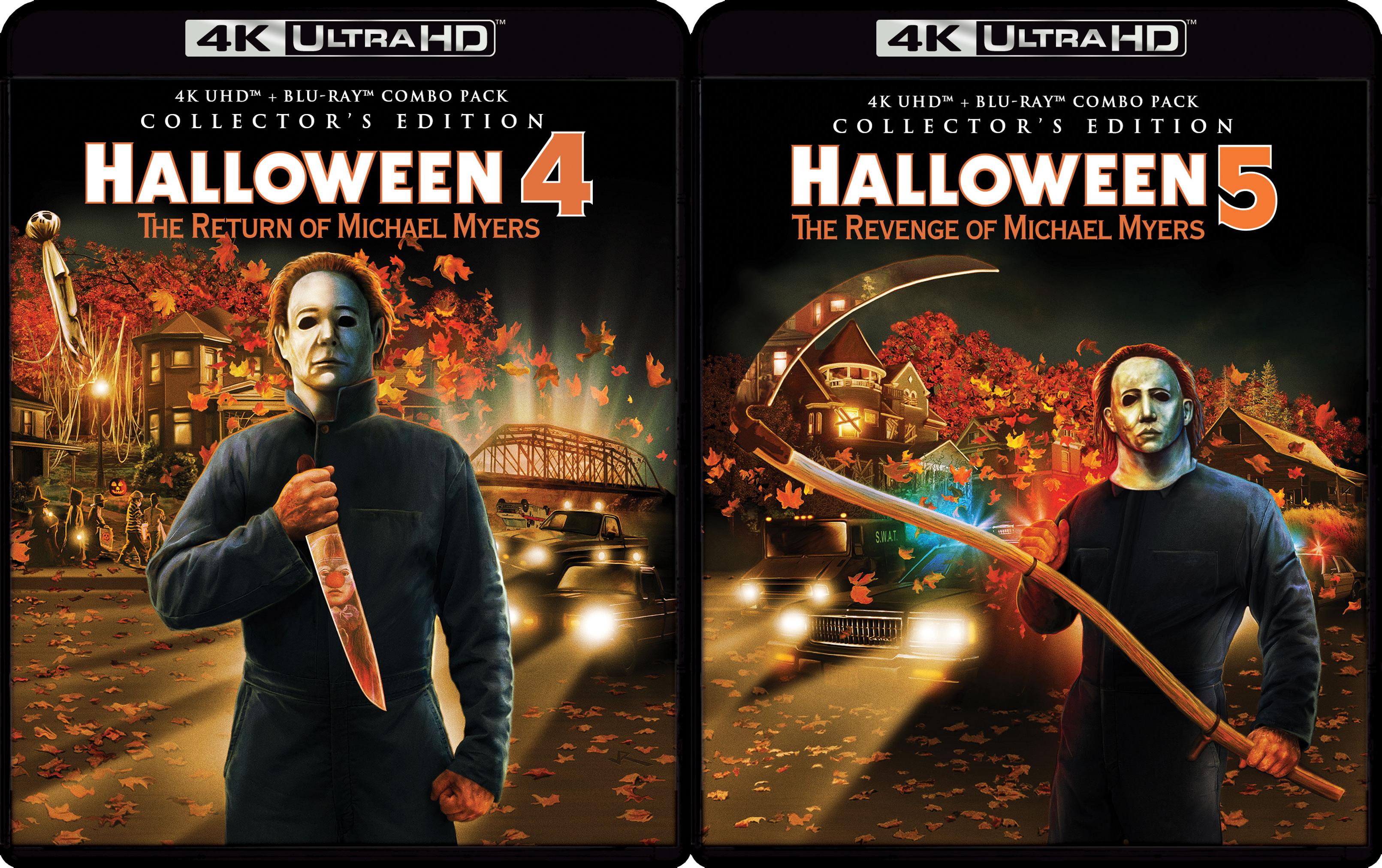 HALLOWEEN 4 & HALLOWEEN 5 4K DISCS ANNOUNCED