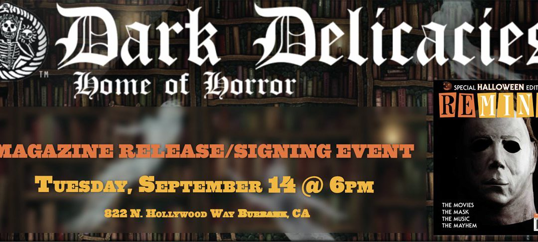 REMIND MAGAZINE RELEASE/SIGNING EVENT SEPT 14 IN BURBANK, CA